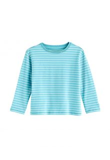 Coolibar---UV-Shirt-for-toddlers---Longsleeve---Coco-Plum---Ice-Blue/White