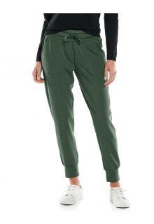 Coolibar---Casual-UV-pants-for-women---Maho-Weekend---Deep-Olive