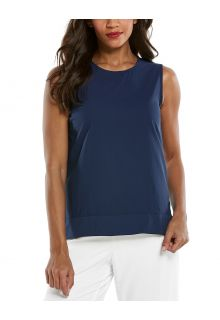 Coolibar---UV-Tank-Top-for-women---St.-Tropez-Swing---Navy