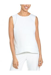 Coolibar---UV-Tank-Top-for-women---St.-Tropez-Swing---White