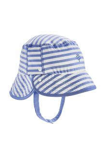 Coolibar---UV-Bucket-hat-for-babies---Linden---Seashore-Blue/White