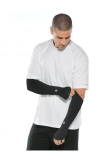 Coolibar---UV-Performance-Sleeves-for-men---Backspin---Black