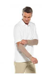 Coolibar---UV-Sun-Sleeves-for-men---Navagio---Dark-Taupe