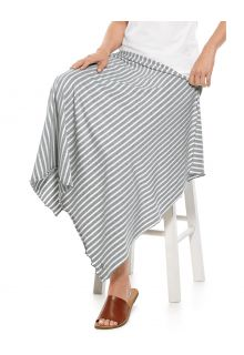 Coolibar---UV-resistant-Sun-Blanket---Savannah---Grey/White