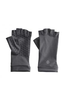 Coolibar---UV-resistant-fingerless-gloves-for-adults---Ouray---Charcoal