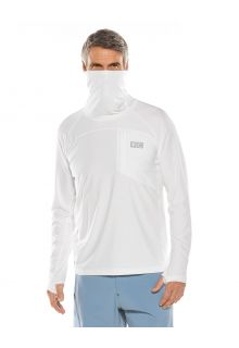 Coolibar---UV-Swim-Shirt-with-neck-gaitor-for-men---Andros---White