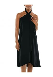 Coolibar---UV-Convertible-wrap-dress-for-women---Isla---Black