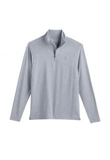 Coolibar---UV-Pullover-with-Quarter-Zip-for-men---Sonora---Grey