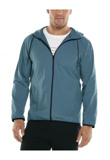 Coolibar---UV-Summer-Jacket-for-men---Hullen-Hooded---Placid-Blue