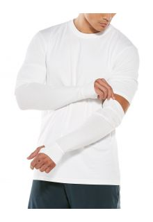 Coolibar---UV-Sun-Sleeves-for-men---LumaLeo---White