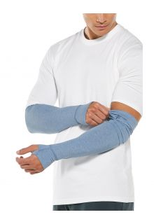 Coolibar---UV-Sun-Sleeves-for-men---LumaLeo---Light-Blue