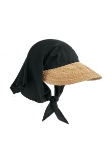 Coolibar---UV-Sun-Hat-with-Scarf-for-women---Abril---Natural/Black