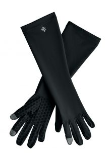 Coolibar---UV-resistant-gloves-with-sleeve-for-adults---Bona---Black