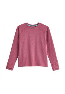 Coolibar---UV-Shirt-for-kids---Longsleeve---LumaLeo---Berry