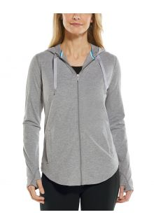 Coolibar---UV-Full-zip-hoodie-for-women---LumaLeo-Zip-Up---Grey