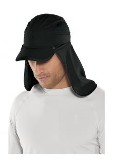 Coolibar---UV-Sport-Cap-with-neck-cover-for-adults---Agility---Black