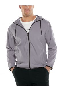 Coolibar---UV-Summer-Jacket-for-men---Hullen-Hooded---Dapple-Grey