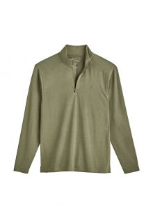 Coolibar---UV-Pullover-with-Quarter-Zip-for-men---Sonora---Olive