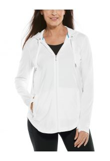 Coolibar---UV-Full-zip-hoodie-for-women---LumaLeo-Zip-Up---White
