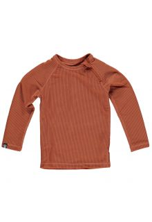 Beach-&-Bandits---T-shirt-de-bain-anti-UV-pour-enfants---Collection-Ribbed---Terre