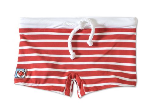 Little-Red-Fish---Short-de-bain-anti-UV-pour-enfants---Rouge